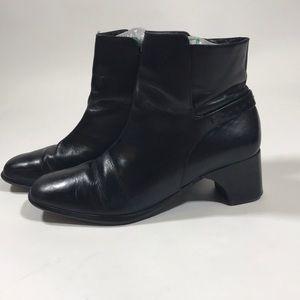 2-inch black booties